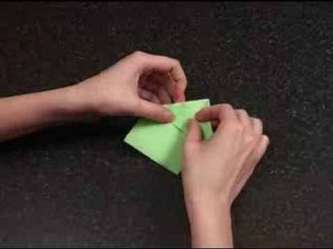Оригами – Прыгающая лягушка