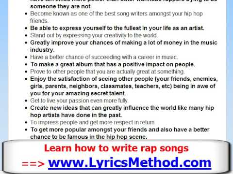 writing a rap song Of course, our results parody existing songs, which is part of the fun  write rap  lyrics / random rap maker / how to write a rhyming rap song / rap rhyme finder.