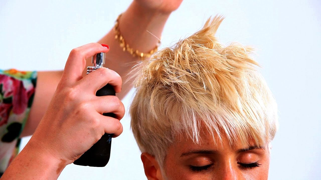 Styling a Pixie Haircut with Long Bangs | Short Hairstyles - YouTube