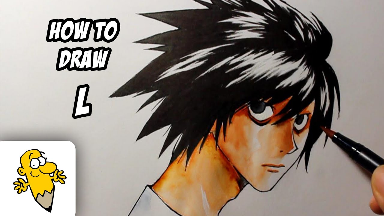 Easy to draw l death note how to draw l lawliet death note for Homesource com