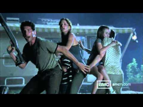 The Walking Dead   Talked About Scenes E 104   Zombies attack the survivor camp