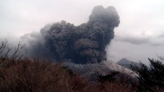 Explosive Eruption at Kirishima Volcano's Shinmoedake Crater, Japan - Screener 1920x1080 30p