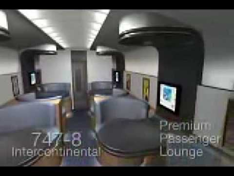 Boeing 747 800 interior youtube for Boeing 747 8 interieur