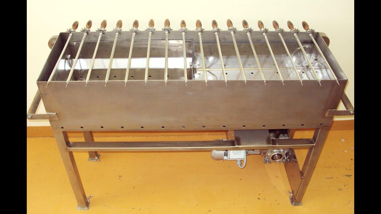 Автоматическая шашлычница с электроприводом шампуров своими руками