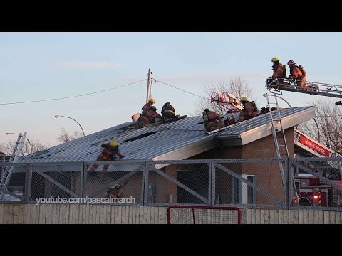 Firefighter falls off roof in Quebec