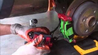 Mini Cooper Changing Brake Pads (gopro Plus FlipHD)
