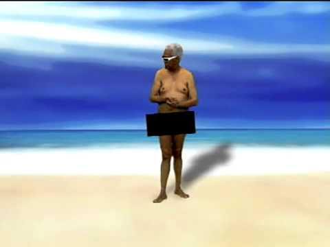Você já imaginou ver Bira em uma praia de nudismo  Então, confira!