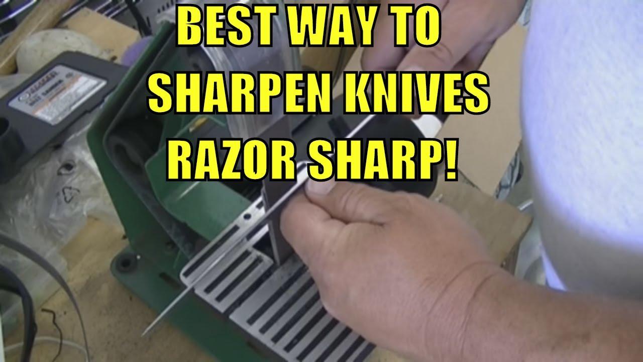 best way to sharpen any knife razor sharp youtube. Black Bedroom Furniture Sets. Home Design Ideas