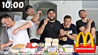 ENTIRE MCDONALD'S MENU IN 10 MIN CHALLENGE!!
