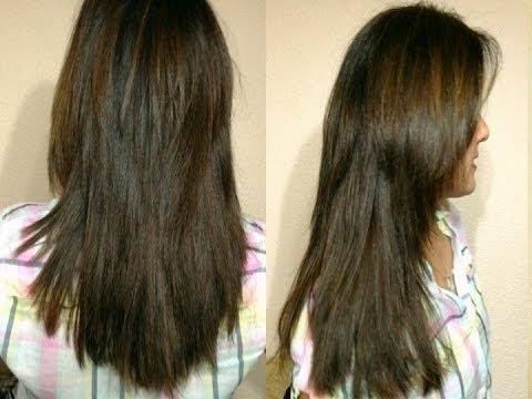 Hình ảnh trong video Como cortar el cabello a capas Largas y