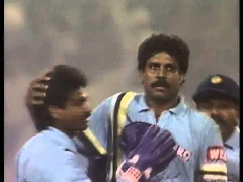 Kapil Dev vs Keith Arthurton, beautiful Kapil Dev