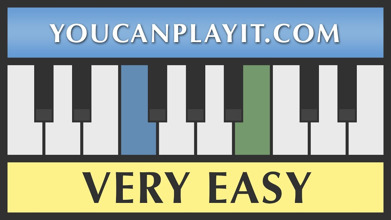 Amazing grace very easy piano tutorial how to play youtube