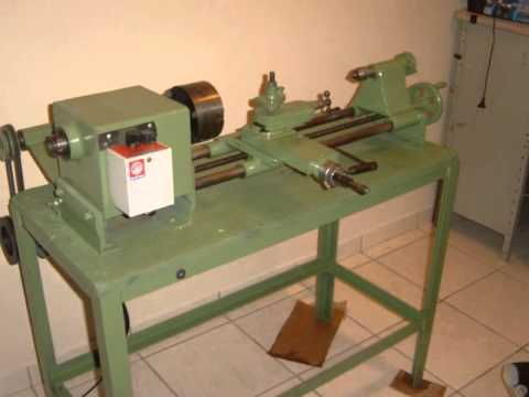 torno mecânico fabricado com barras trefiladas artesanal