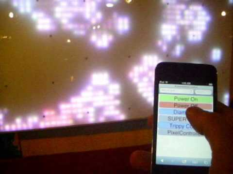 LED grid web/mobile interface