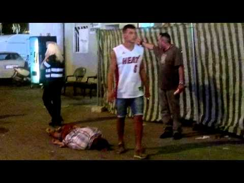 Pelea en la feria de malaga 2014