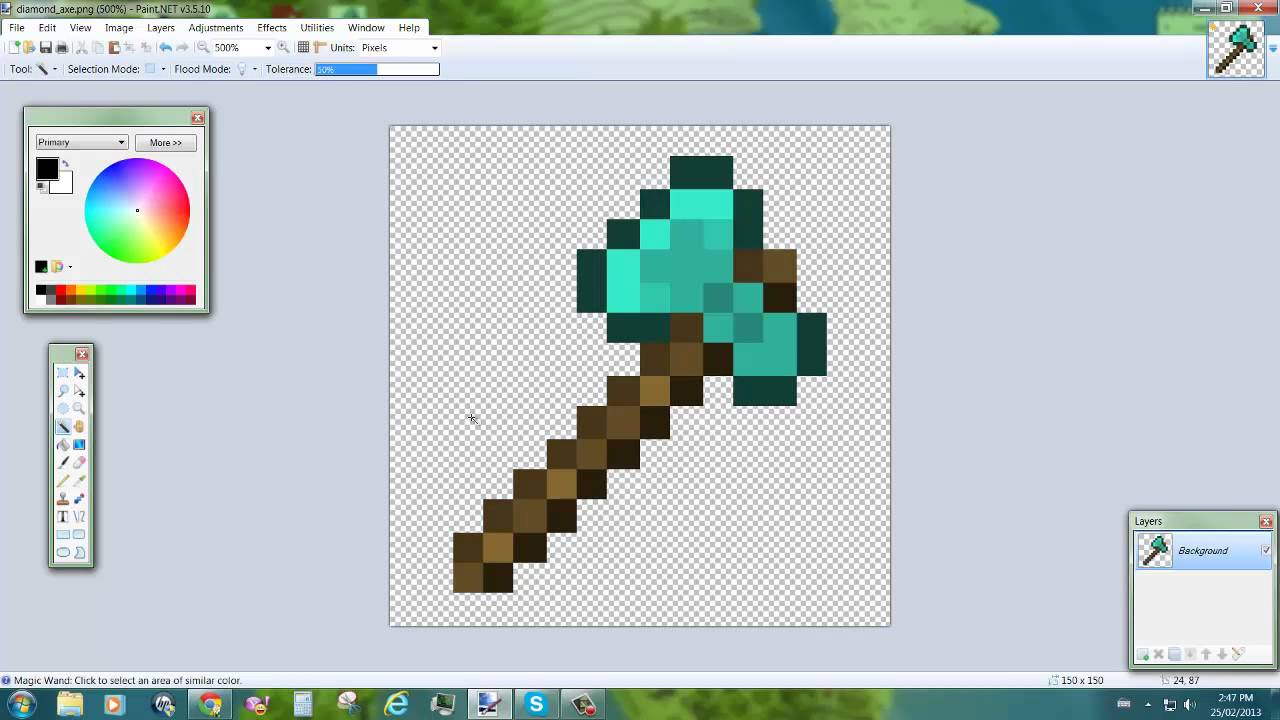 Viewing gallery for minecraft diamond pickaxe transparent background