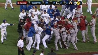 Wild brawl erupts between Dodgers, D-backs