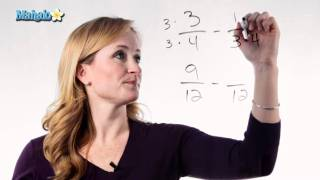 Learn Fractions How To Subtract Fractions