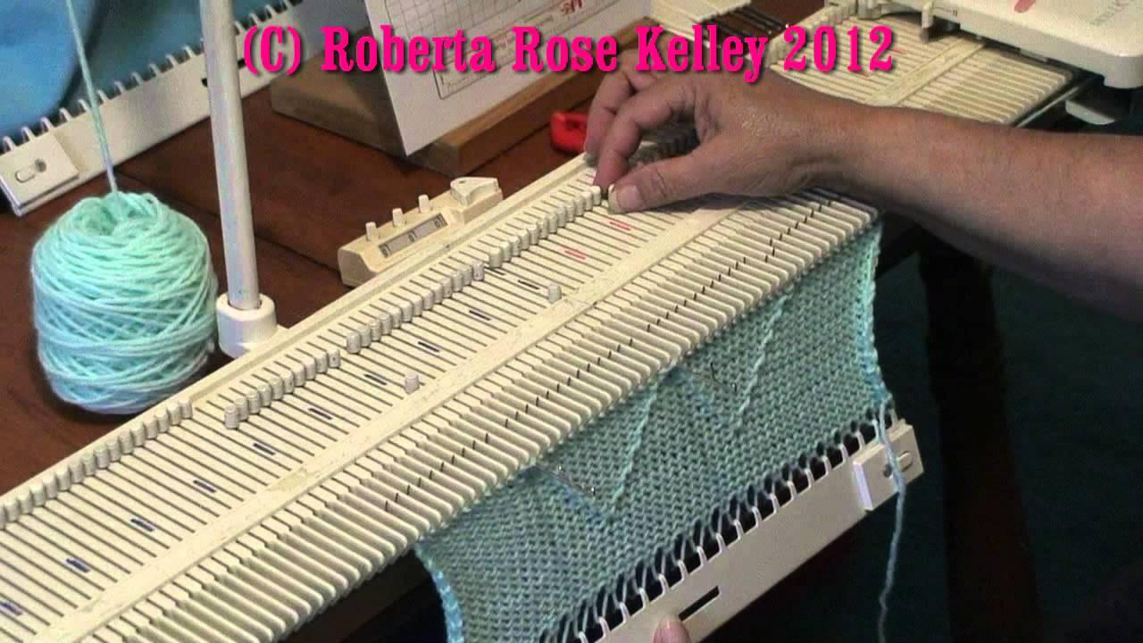 Lk150 Knitting Machine Patterns : LK150 ~ KX350 Manual Tuck Stitch - YouTube