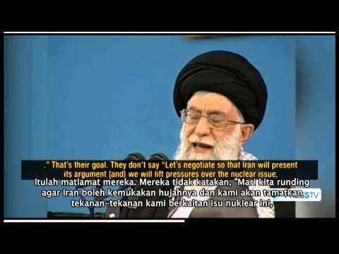 Ayatullah Sayyed Ali Khamenei 16 Feb 13-We reject negotiation with US (Malay Sub)
