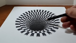 Drawing a Hole: Anamorphic Illusion