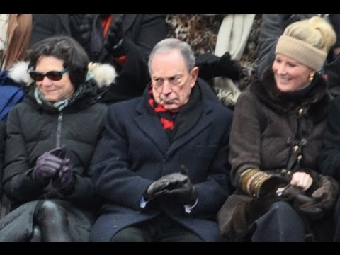 Bloomberg Takes Beating at de Blasio Inauguration