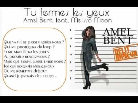 Tu fermes les yeux - Amel Bent - Paroles