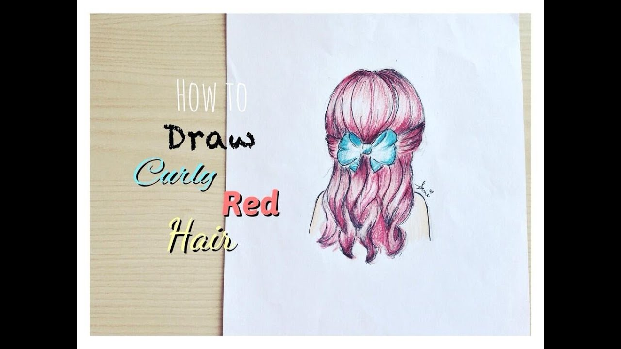 How I Draw Curly Red Hair Youtube