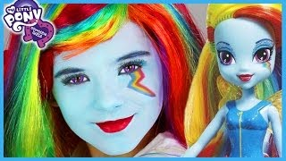 My Little Pony Rainbow Dash Makeup Tutorial! Equestria