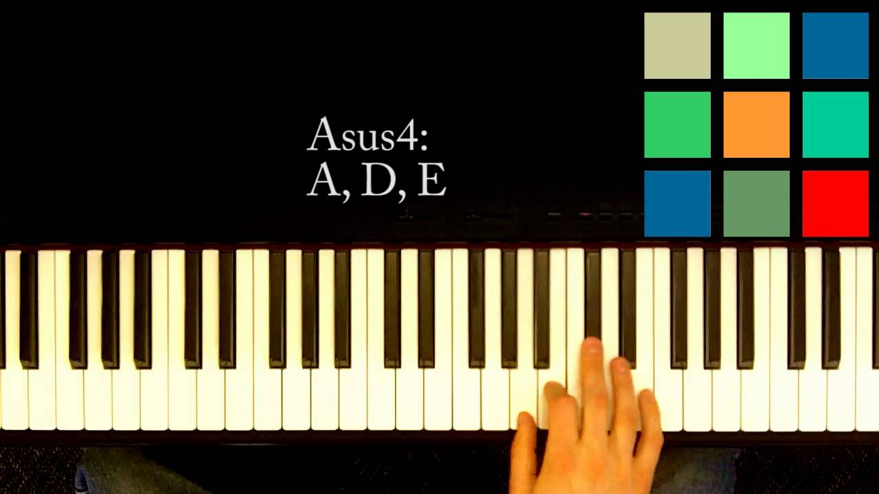 how to play asus4 on piano