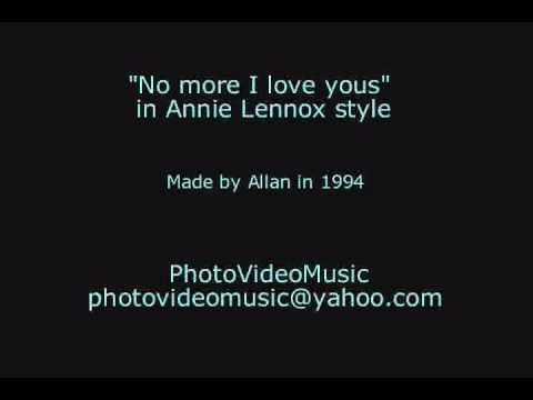Annie Lennox No more I love yous karaoke