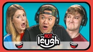 YouTubers React to Try to Watch This Without Laughing or Grinning #23