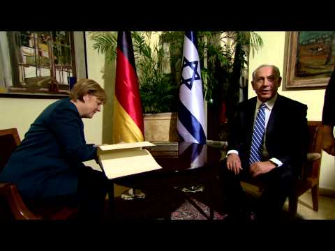 PM Netanyahu Meets Chancellor of Germany Angela Merkel