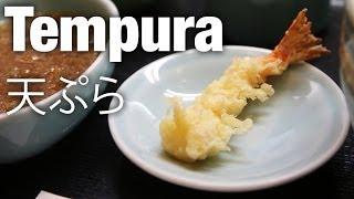 Eating Tempura (天ぷら) at Tenmatsu Restaurant, Tokyo