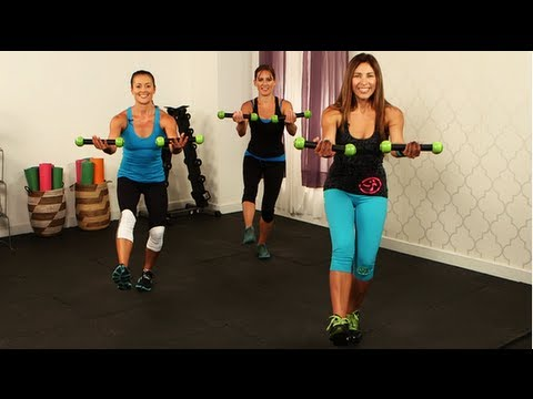 Zumba workout full body fitness class fitsugar youtube for Living room zumba