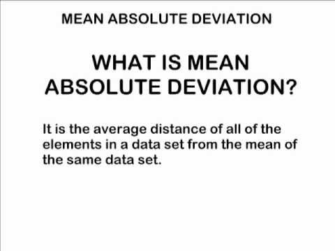 how to find the deviation of a element