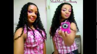 Quick Easy Crimped Wavy Hair Style : Braid Out Tutorial