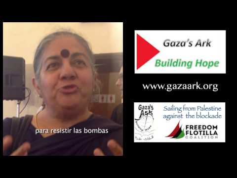Vandana Shiva - to the women of Gaza (subtítulos en español)