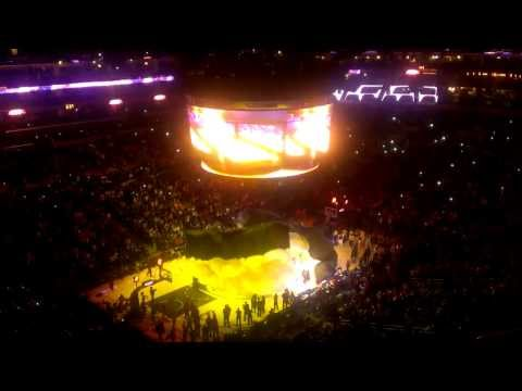 Kobe Bryant return Lakers introduction vs Raptors 12/8/13