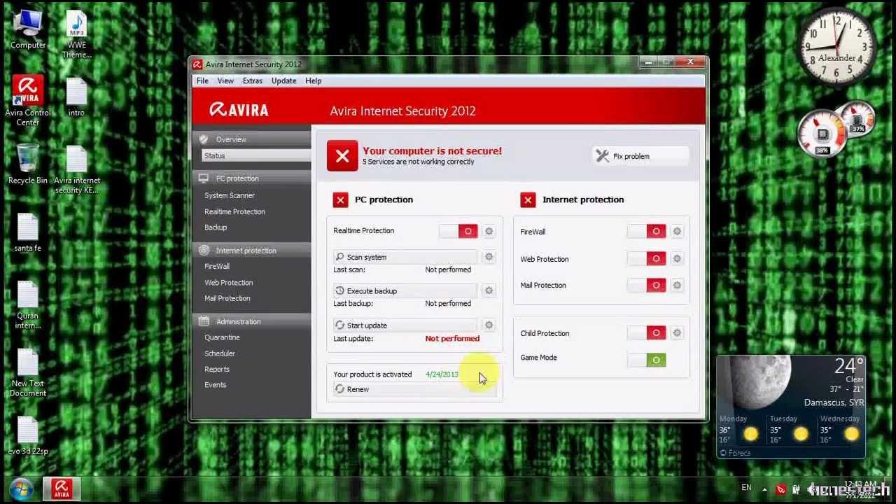 Avira antivir premium 10.0.0.603 plus key till 2017