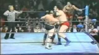 Andre The Giant Tag Team Wrestling