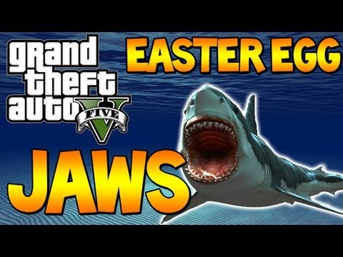 "GTA 5 - Free Roam ""JAWS"" Easter Egg ""GTA V SHARK ATTACK"" GTA 5 JAWS (Grand Theft Auto 5)"