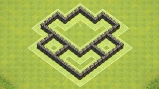 Clash Of Clans Town Hall 4 Defense (CoC TH4) BEST Hybrid
