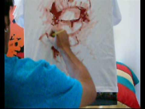 ANDRÉ LINDOSO pintura em camiseta