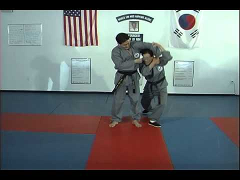 Hapkido Behind Sholder Grab Techniques 1 thru 4, Ji Han Jae