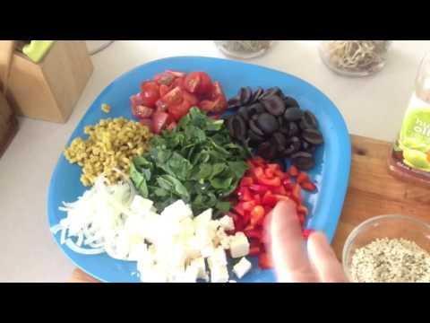 Salade de pois chiches végétarienne