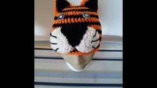 Tutorial Crochet Tiger Beanie