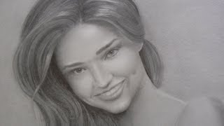 Miranda Kerr Portrait How To Draw A Portrait With Smile