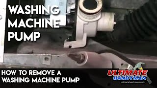 How to remove a washing machine pump