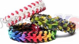 Rainbow Loom Baseball Stitch Bracelet Double Over And
